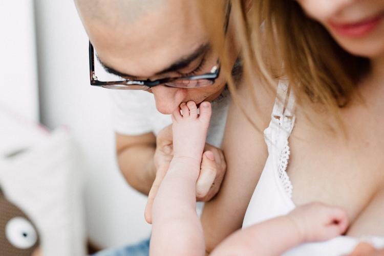kuscheln mit Baby
